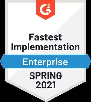 g2 fastest implementation 2021