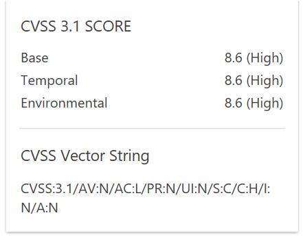 CVSS 3.1 Support