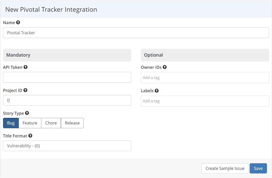 Pivotal Tracker Integration