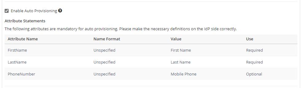 SAML Auto-Provisioning (IdP Initiated SAML)