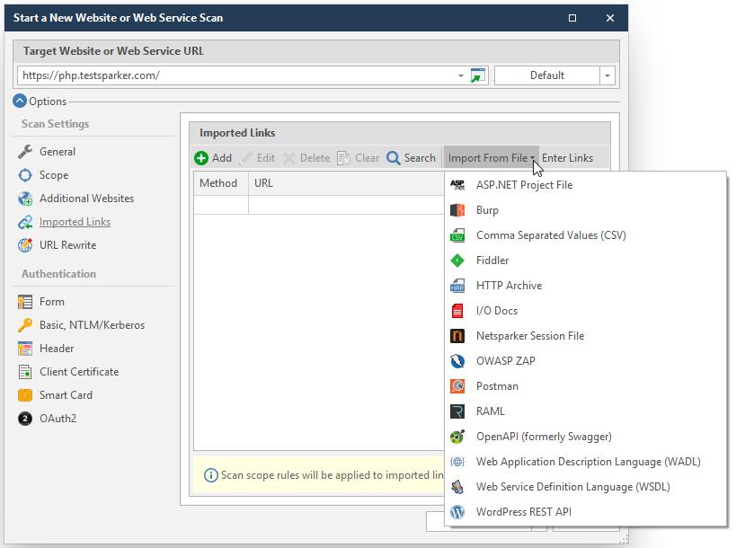 Configuring Additional Websites | Netsparker