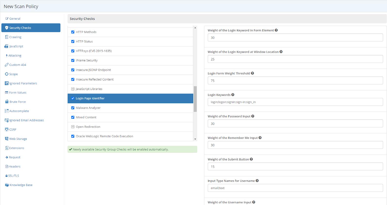 Login Page Identifier Screen