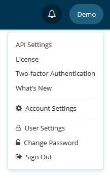 License menu in Netsparker Enterprise