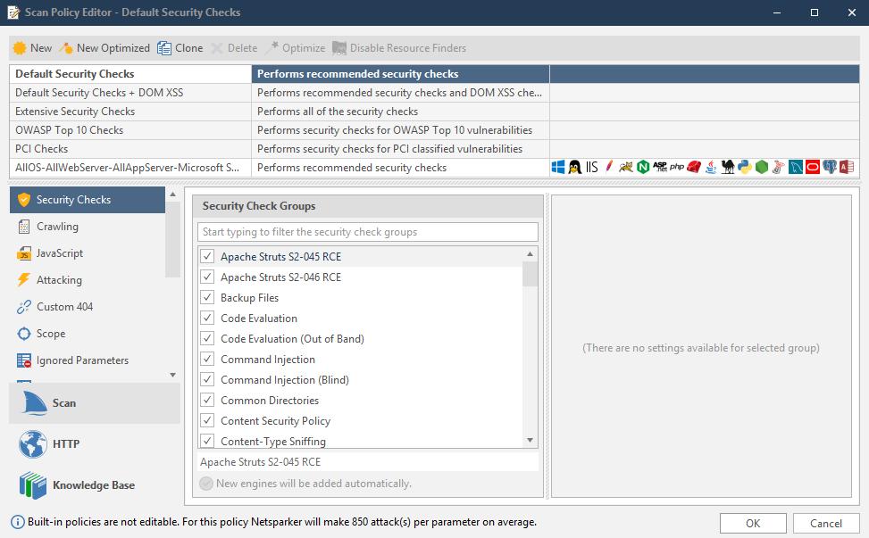 Scanning Parameter-Based Navigation Websites   Netsparker