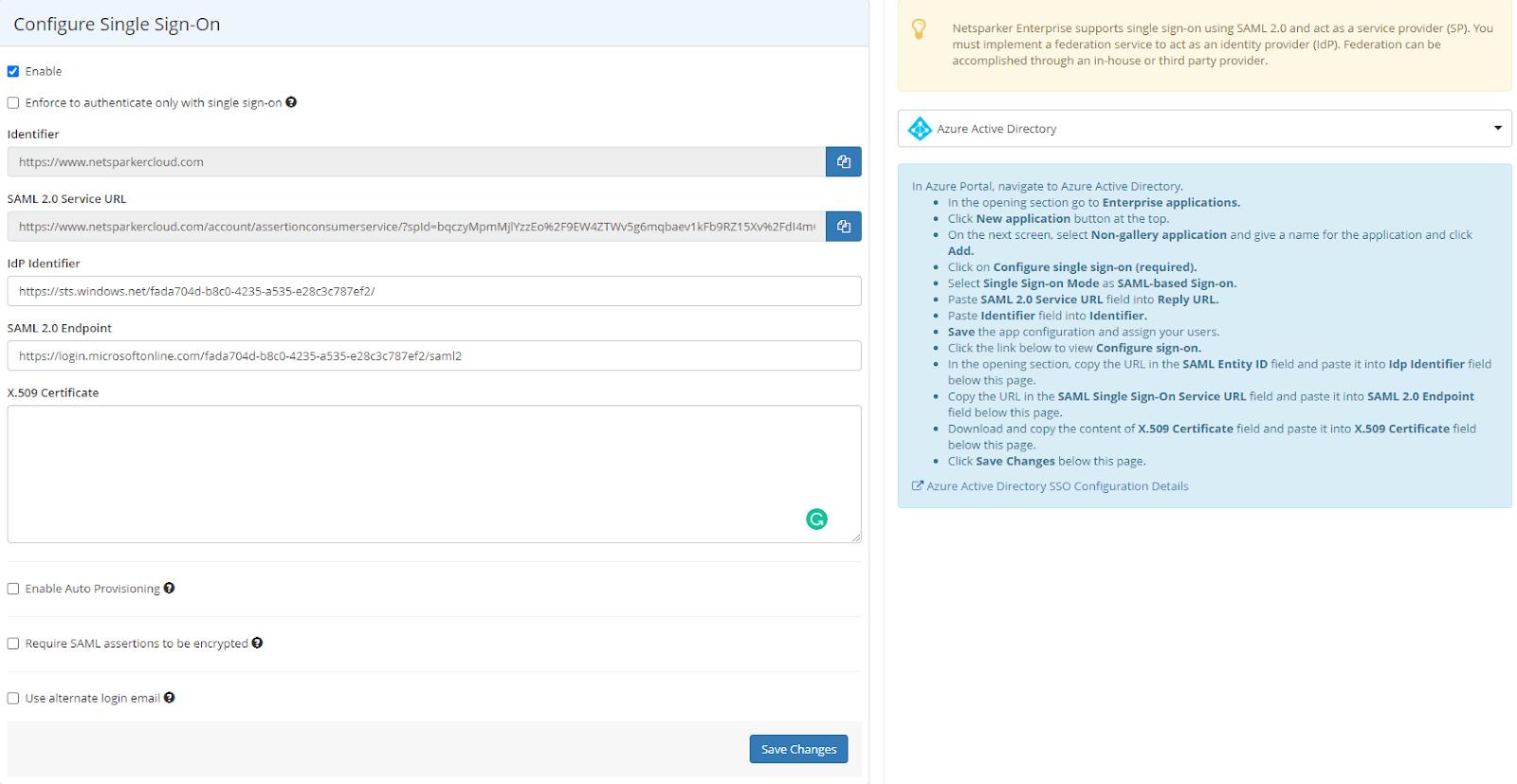 Configuring Sign-on in Netsparker Enterprise