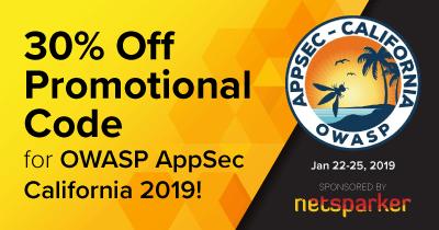 Netsparker Sponsors OWASP AppSec California 2019